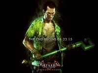 The Riddler Batman Arkham Knight promo ad