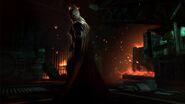 Fiery bat