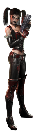 File:Batman Arkham City Armored Edition artwork - Harley Quinn 1.png
