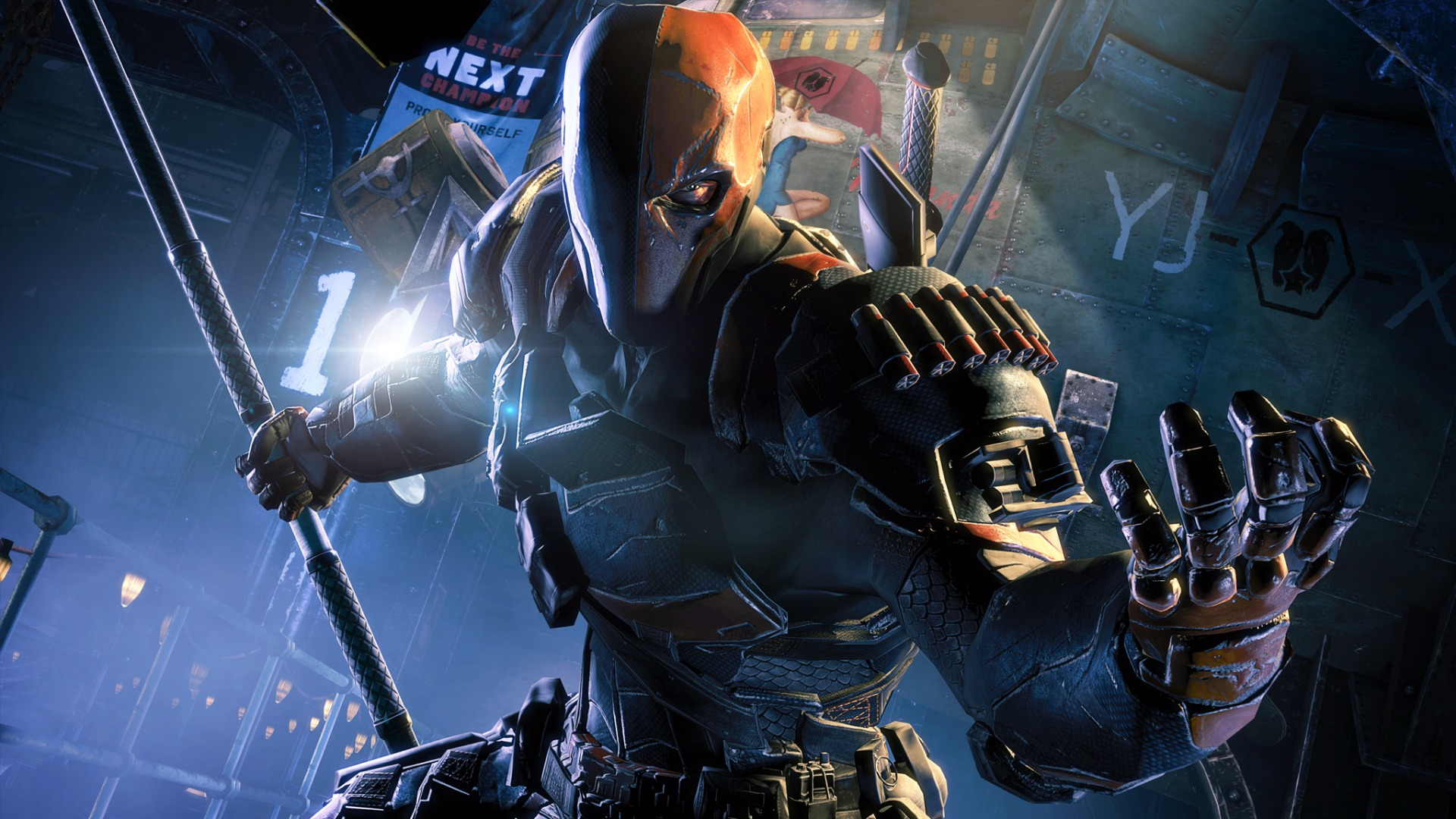 Batman: Arkham Origins - Deathstroke Challenge Pack Gameplay | Den ...