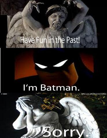 File:Batman vs Weeping angels.jpg