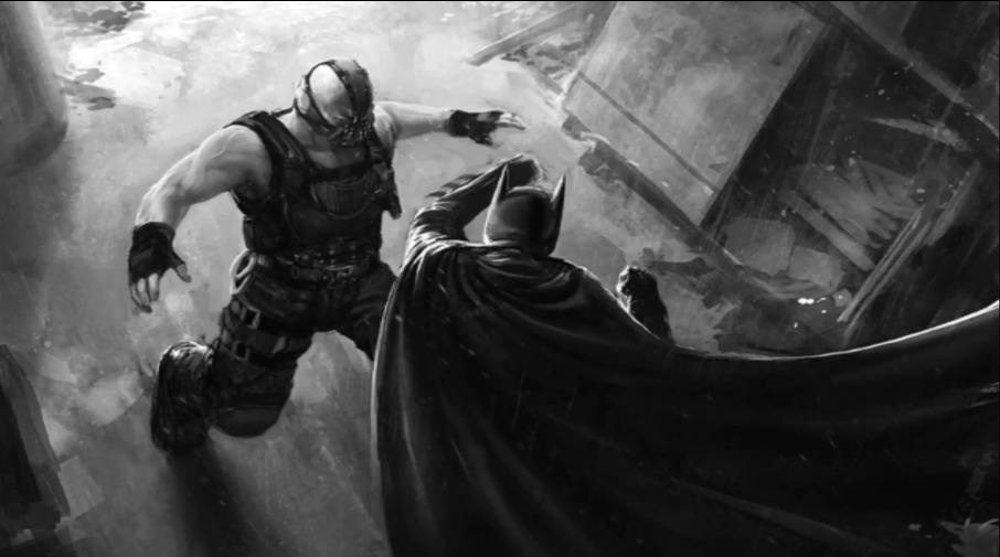 The dark knight rises batman vs bane sewer fight