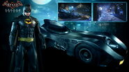 1989 Batmobile with Batman Skin ArkhamKnight