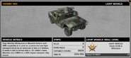 BFBC2 HMMWV 4WD Stats