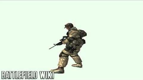 Battlefield 2 - M4 Third Person reload animations
