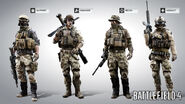 Battlefield 4 American Character Models