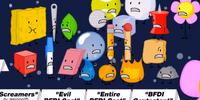Screamers/Evil BFDI Cast/Entire BFDI Cast/BFDI Contestant