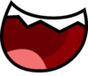 Open Teethed Smile Wide BFDI