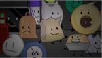 Roboty tv david bell marker clock lightning barg bag pie balloony david cake and gaty