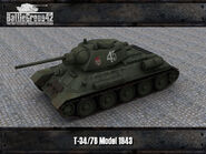T-34-76 Model 1943 render 1