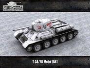 T-34-76 Model 1941 render 2