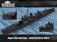 Kagero-class destoyer render