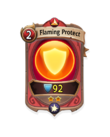 Magic 1 CARD HERO FLAMING PROTECT MIN
