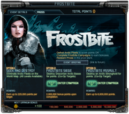 Frostbite message screen