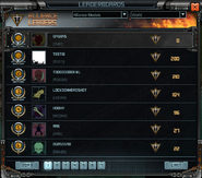 Alliance medals on the leaderboard