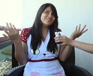 Natasha with cat apron