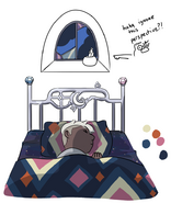 Official Art - Deckard Sleeping