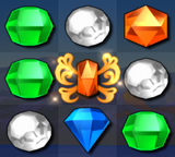 Bejeweled 3 Orange Butterfly