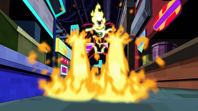 File:Heatblast using his fire powers.png