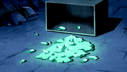 Taydenite in the floor