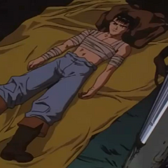 Guts lies sleepless, thinking about his loss to Griffith.