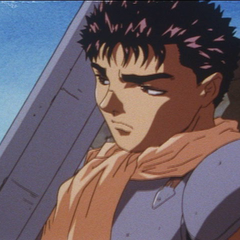 After departing from the Band of the Hawk, Guts collects his thoughts.