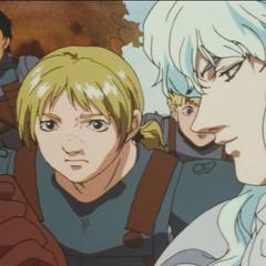 Griffith inspects a deadly arrow alongside Judeau.