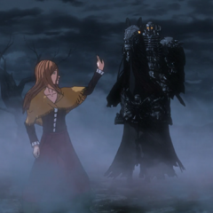 Luca bids farewell to the Skull Knight.