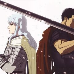 Art of Griffith and Guts for the film trilogy.