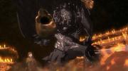 Skull Knight destroys the alter