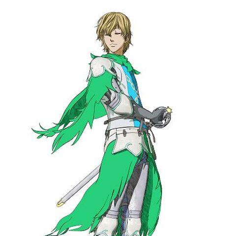 Serpico in his Holy Iron Knight attire.