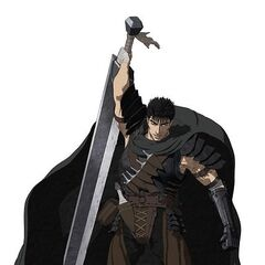 Premier key art of Guts for the 2016 anime.