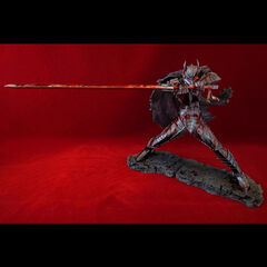 Guts in the Berserker Armor battle stance bloody variant statue released by Art of War.