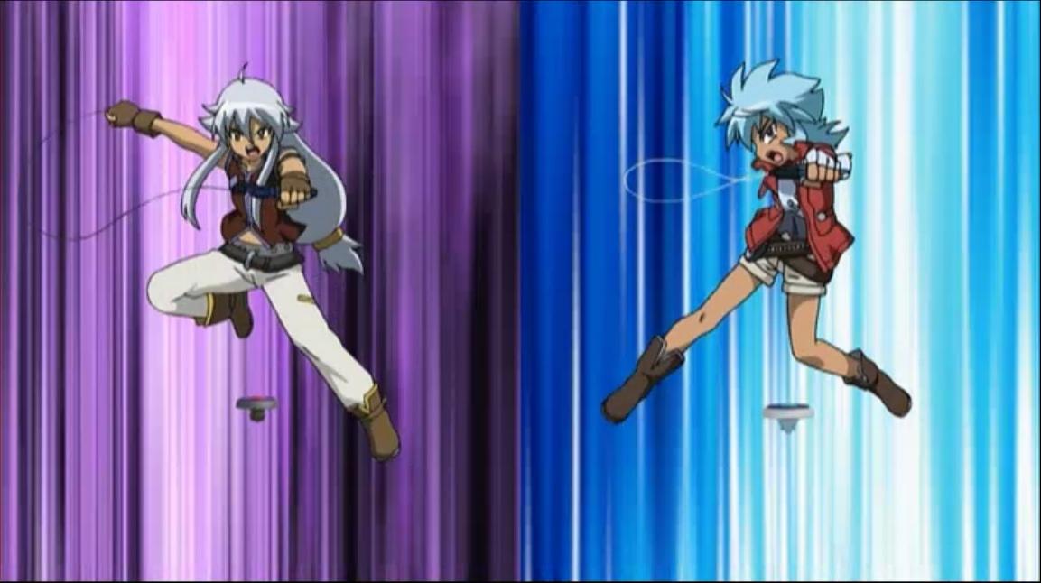 Beyblade Hikaru And Tsubasa Tsubasa vs Hikaru
