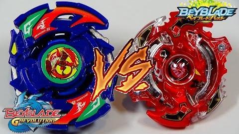 Beyblade BATTLE!! Dranzer G vs Storm Spriggan K.U. (G Revolution vs Burst)