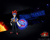 Luta do metal Beyblade vs The Sun Sol Blaze the Poster escaldante Invader Gingka