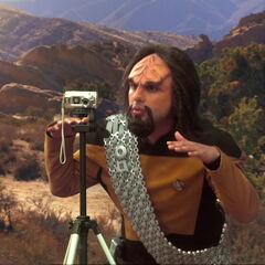Raj as a Worf.