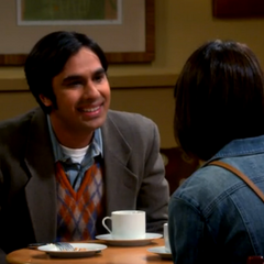 Raj is happy to see Lucy again.