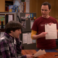 The contract is in Sheldon's proprietary font - Shelvetica.