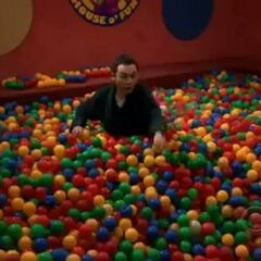 Sheldon in the ball pit.