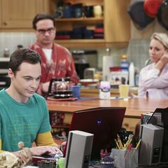 Sheldon cheerful despite his rejection by Amy.