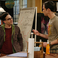 Leonard and Sheldon - pilot episode.