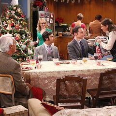 Amy gives Sheldon her Christmas present.