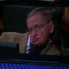 Professor Hawking admitting his prank.