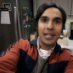 Raj filming the return home.
