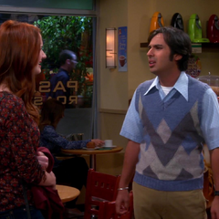 Emily telling Raj off.