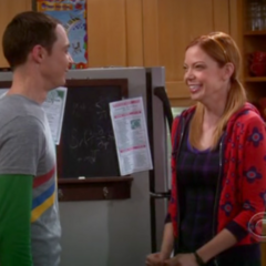 Ramona finds Sheldon's jokes very funny.