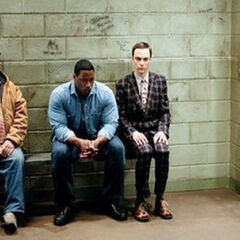 Sheldon's spot in the holding cell.