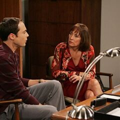 Sheldon's mother getting him to apologize to his boss.