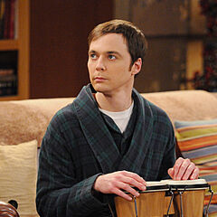 Sheldon and his bongos.